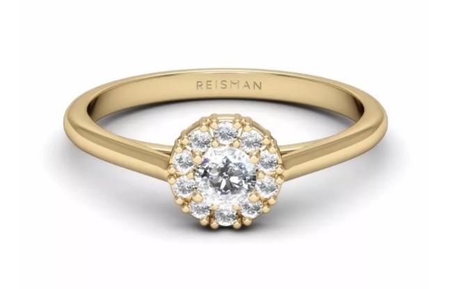 anel de noivado em ouro 18k
