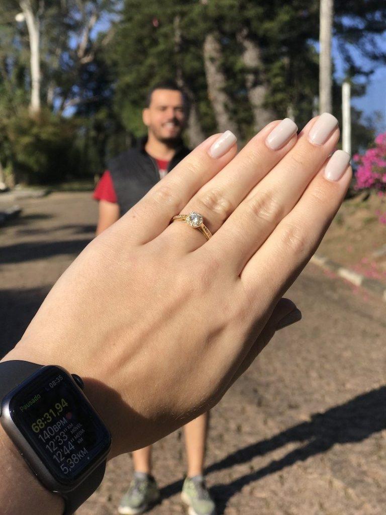 pedido de casamento com anel