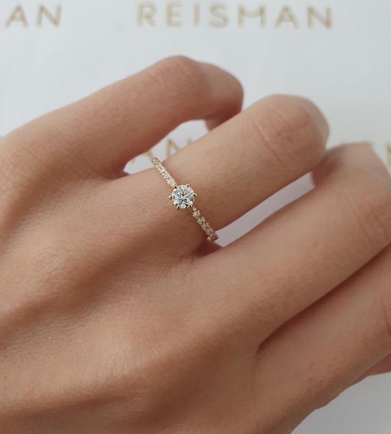 anel de noivado estilo solitário