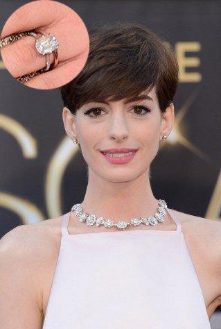 anel de noivado atriz Anne Hathaway