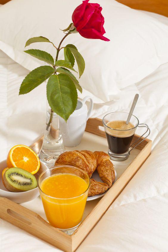 café da manhã para a namorada