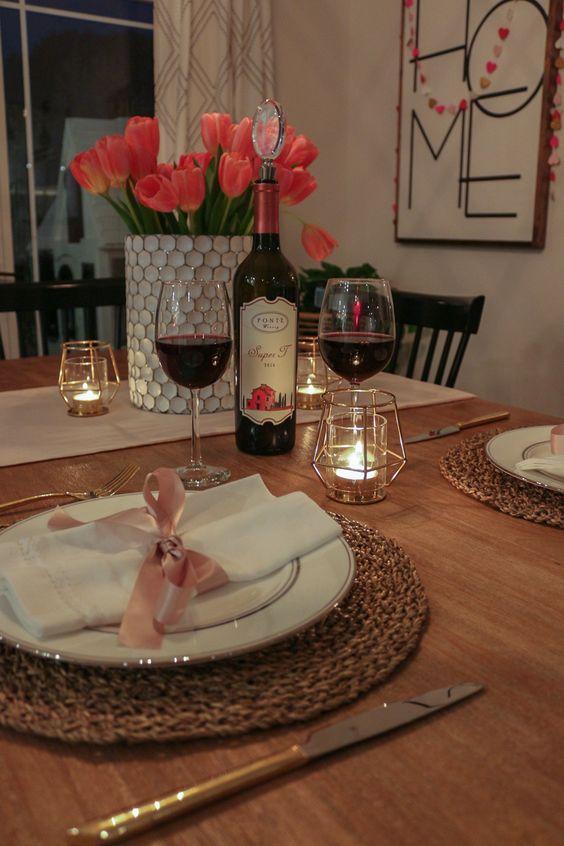 pedido de casamento em jantar em casa