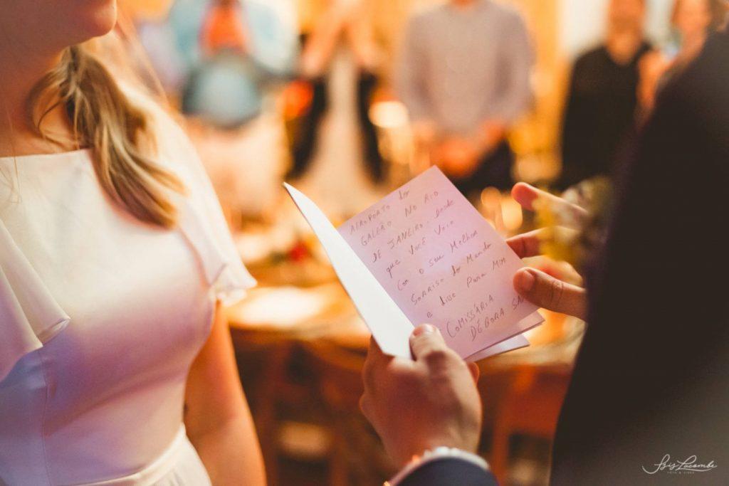 votos de casamento durante cerimônia