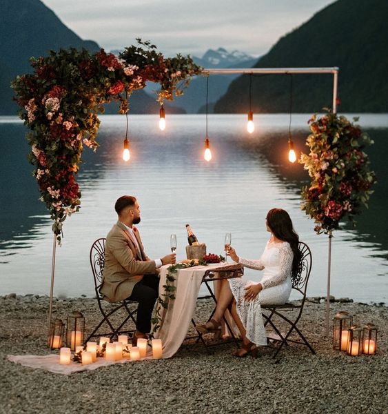 jantar romântico com o namorado