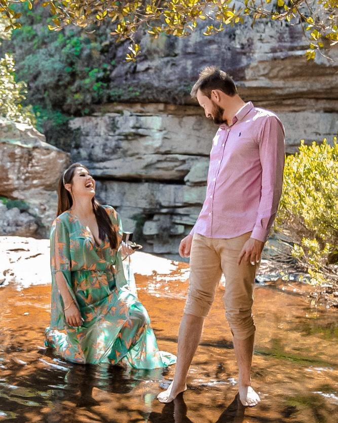 pedido de casamento surpresa cachoeira véu da noiva