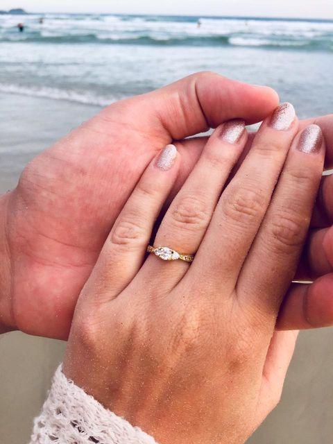 clientes Reisman com anel três pedras