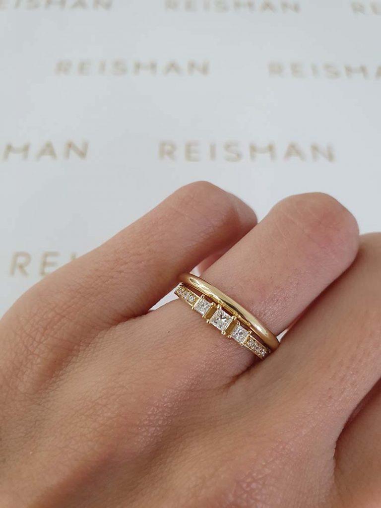 combinação anel de noivado com aliança