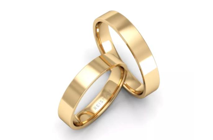 alianças de casamento em ouro 18k