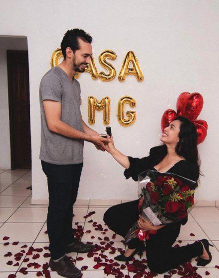 pedido de casamento preparado pela mulher