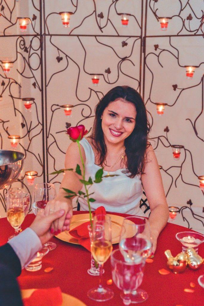 pedido de casamento em jantar