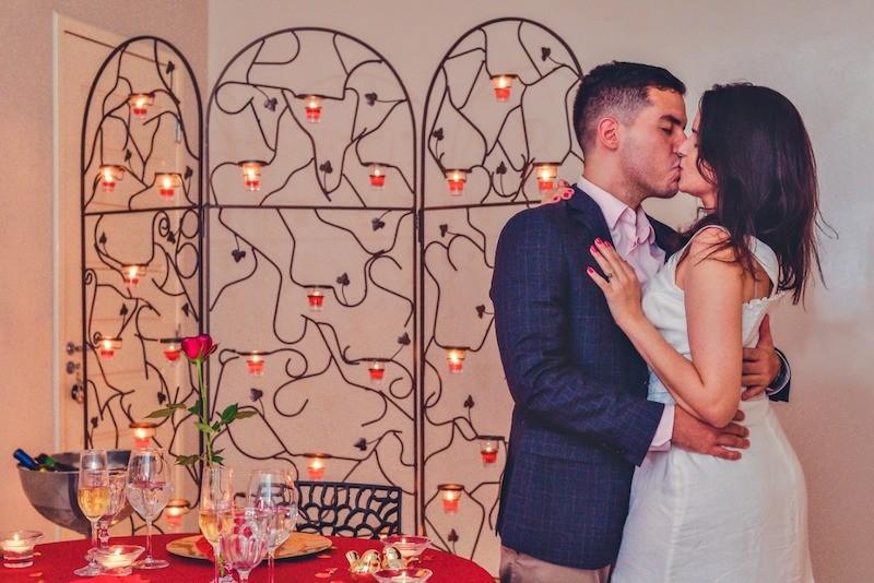 pedido de casamento feito em casa