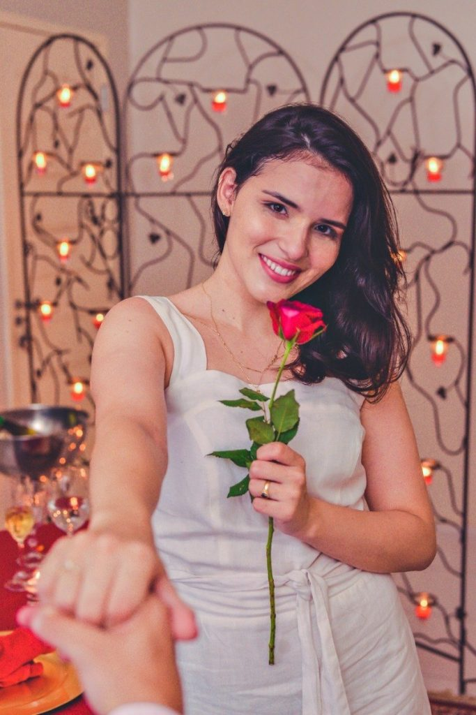 pedido de casamento com decoração