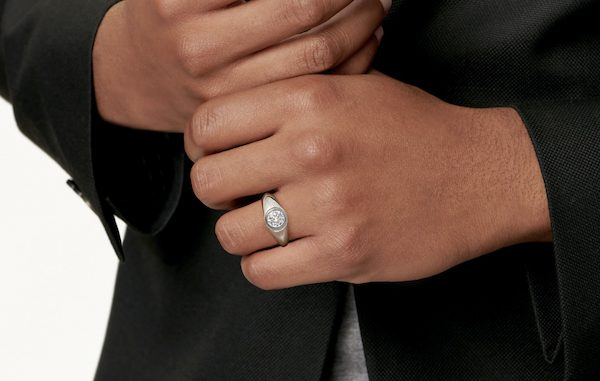 anel de noivado masculino