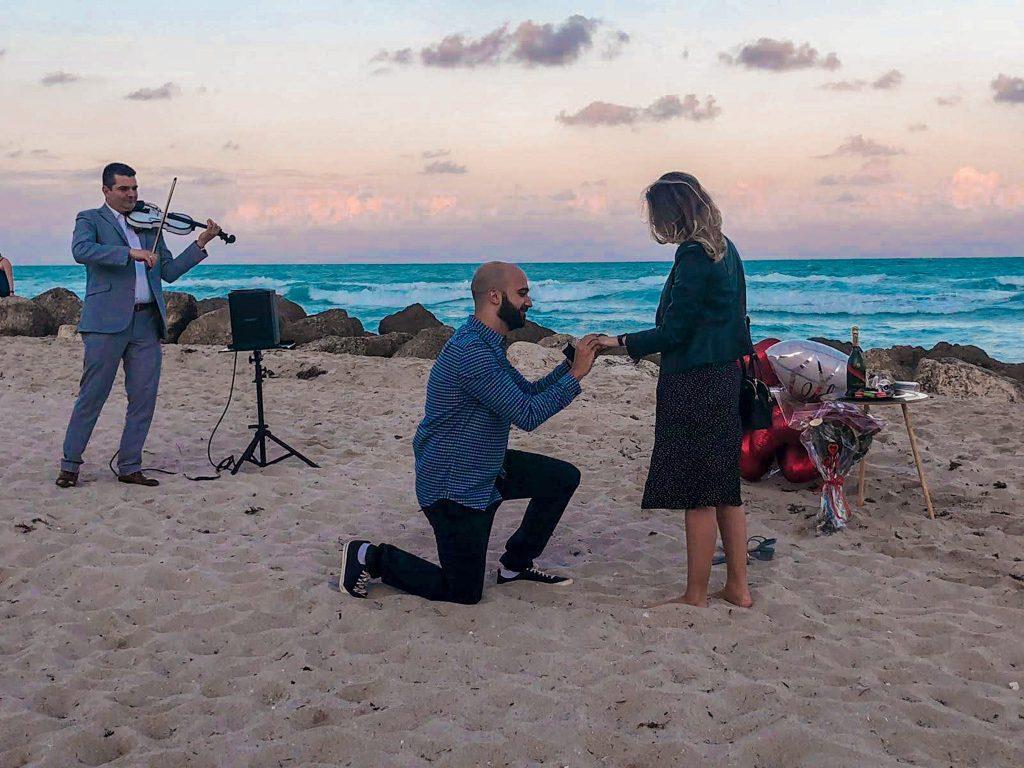 pedido de casamento em Miami