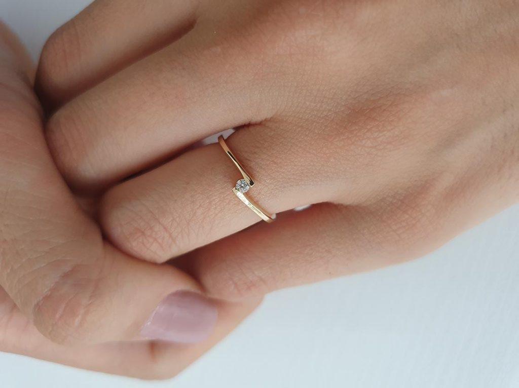 anel de noivado Valentine