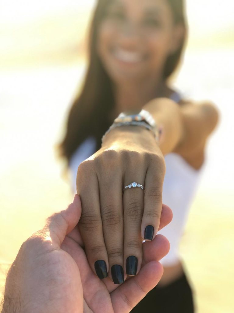 pedido de casamento com anel inspirado no filme a Bela e a Fera