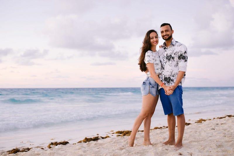 pedido de casamento romântico em Cancún