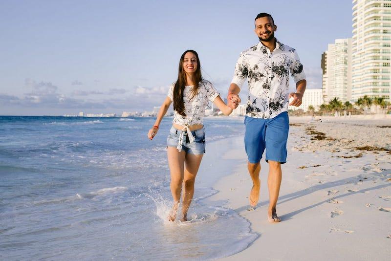 pedido de casamento à beira mar