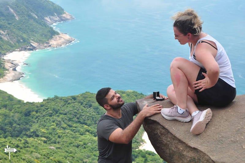 pedido de casamento criativo na pedra do Telégrafo