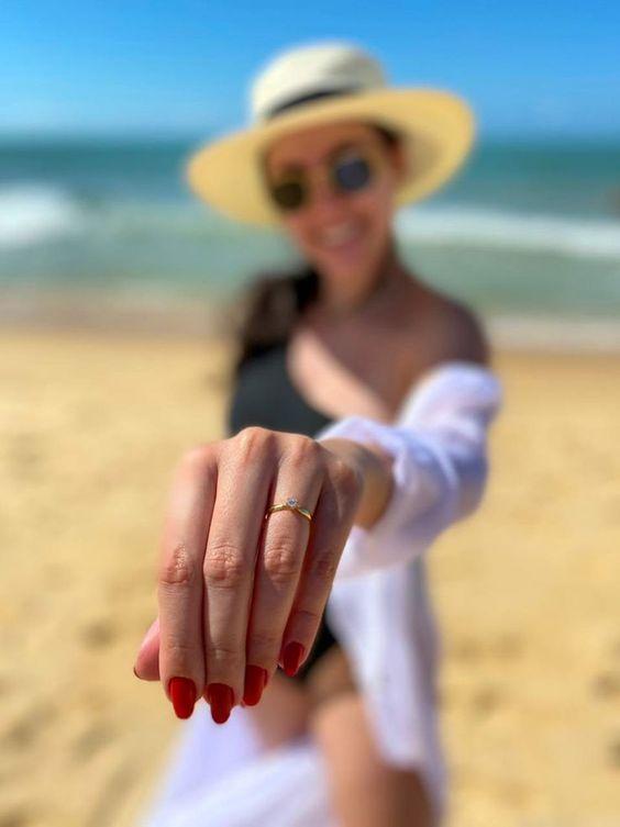 pedido de casamento na praia em Trancoso