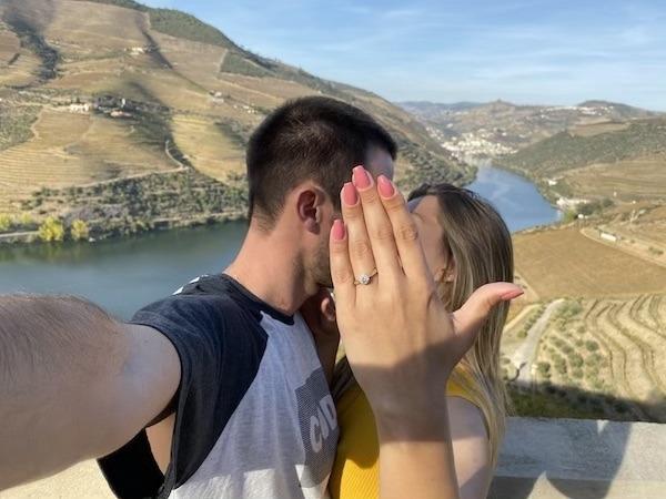 pedido de casamento com anel halo ring