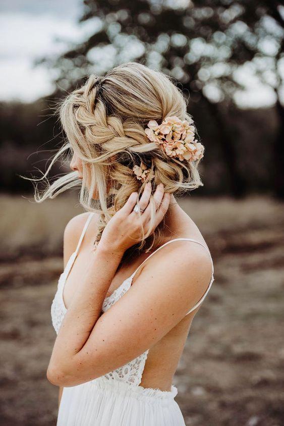 penteado noiva boho