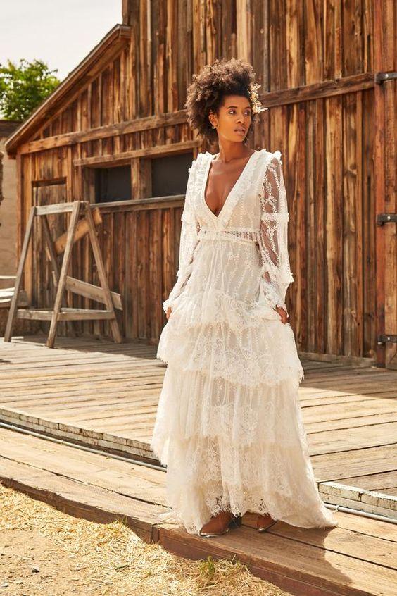 vestido noiva boho