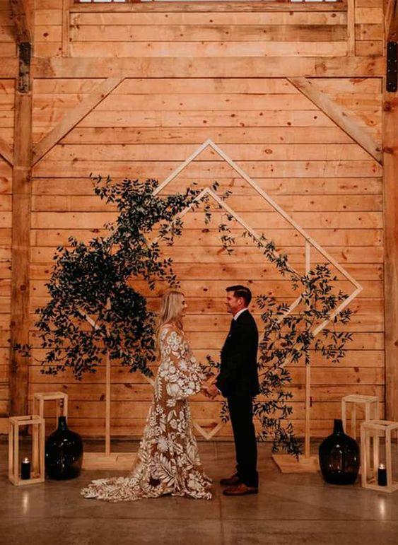 arcos losango para cerimônia