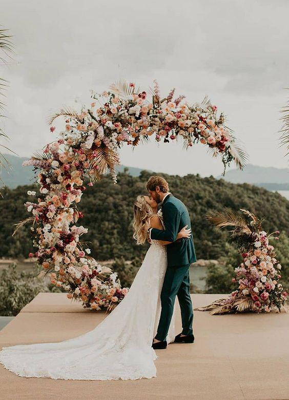 altar florido para casamento