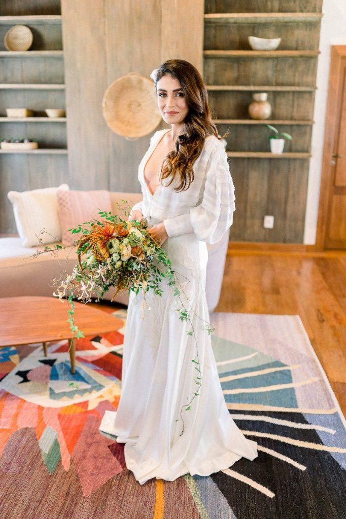 vestido de noiva branco com decote