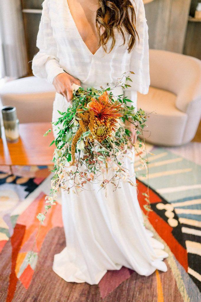 vestido de noiva com mangas longas