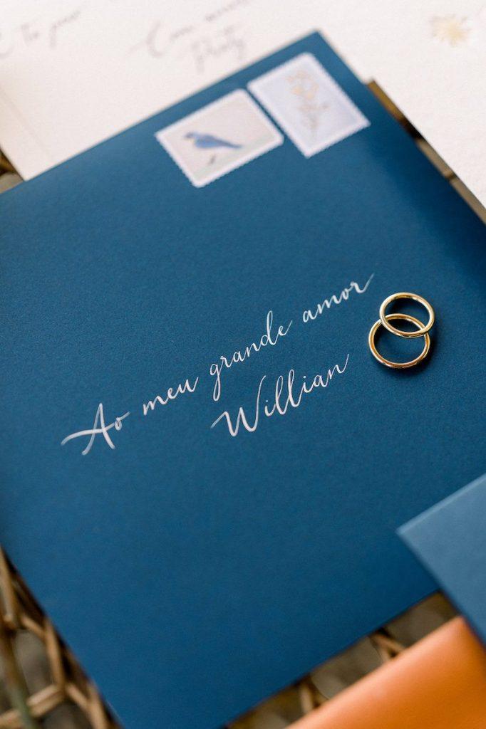 caligrafia delicada para convite de casamento