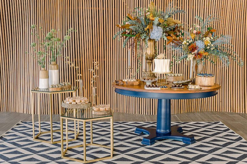 decoração de mesa moderna