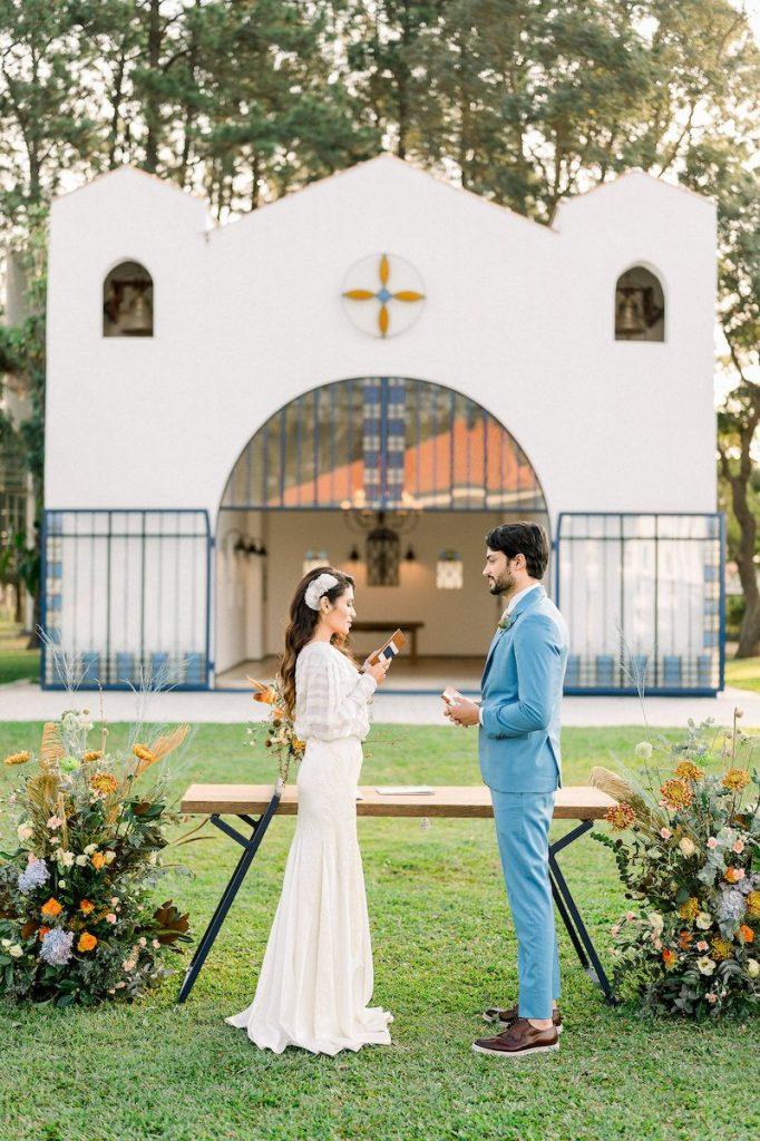 decoração contemporânea de casamento