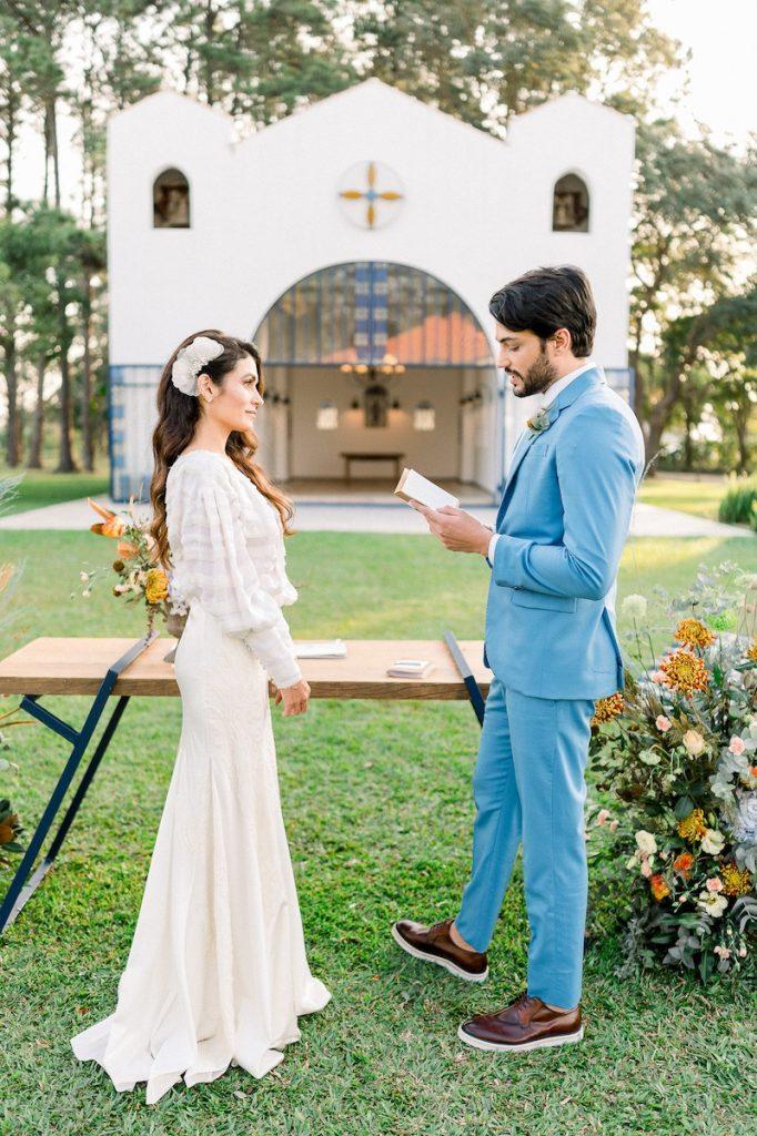 cerimônia de casamento de dia