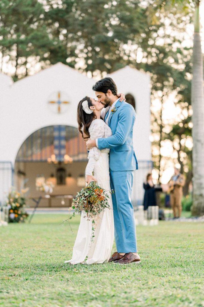 cerimônia de casamento no campo inspirador