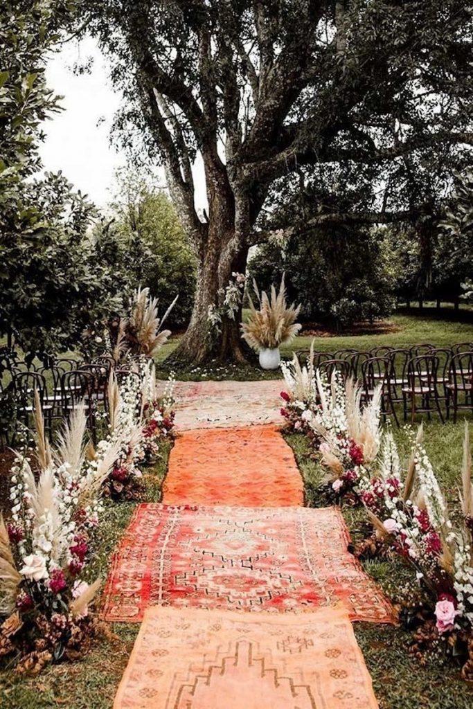 boho na decoração de casamento