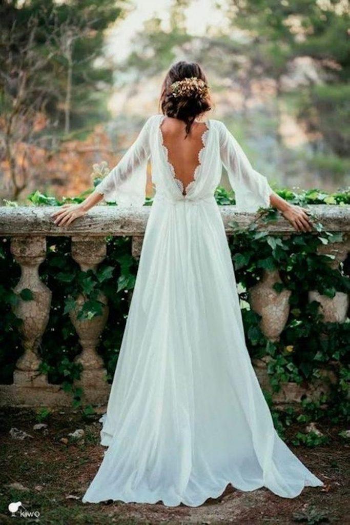 vestido leve para noiva boho