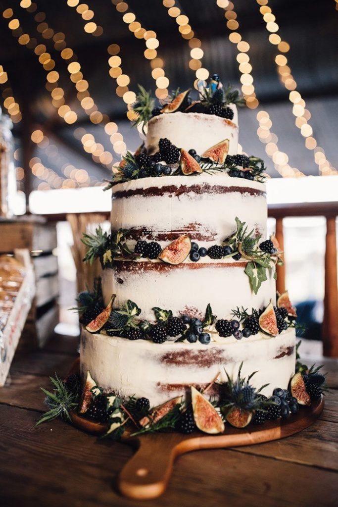bolo para casamento boho