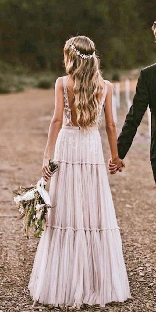 tendência de vestido de noiva boho