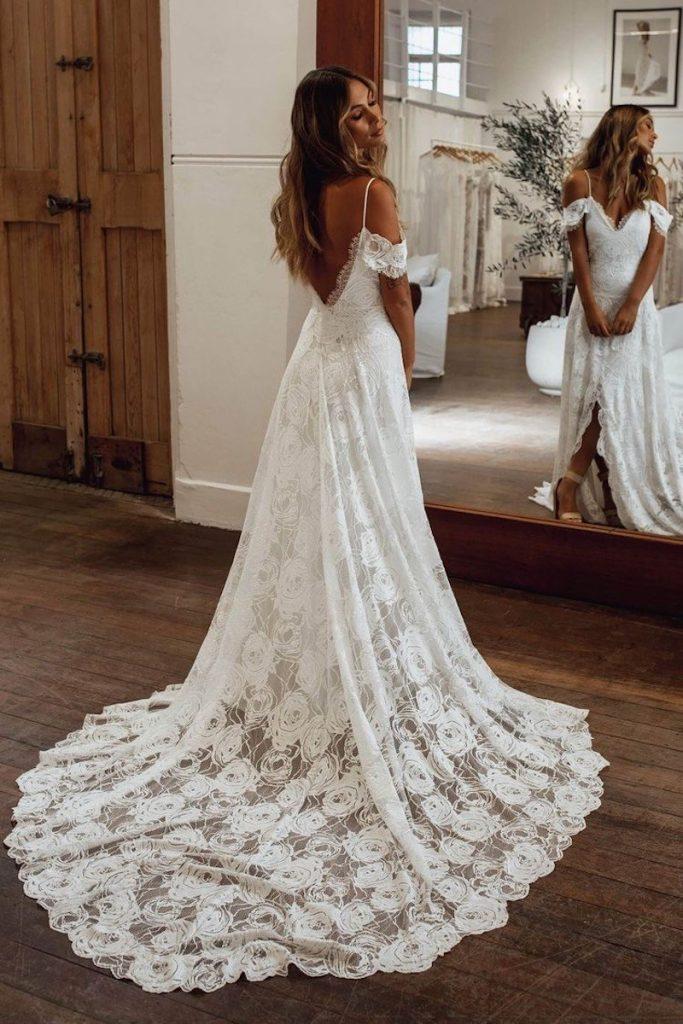 vestido de noiva com tecido leve