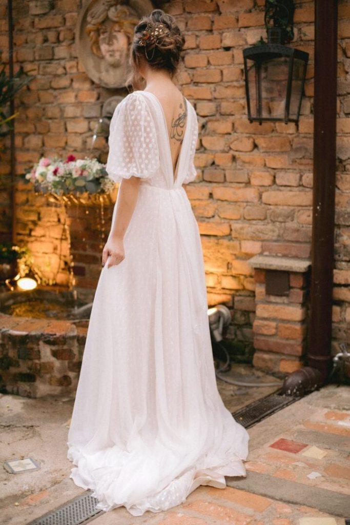 inspiração de vestido de noiva boho