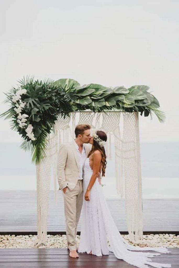 arco para casamento boho