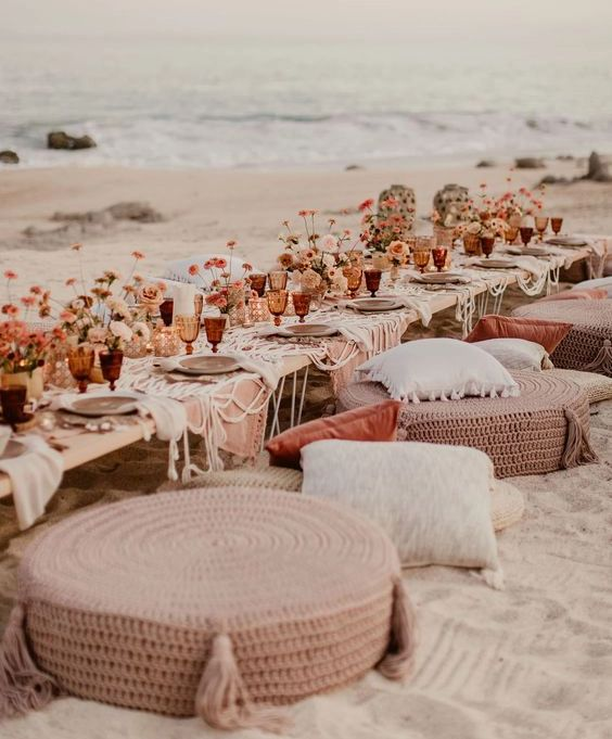 casamento boho na praia