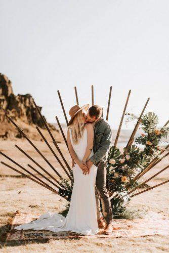 altar criativo para casamento boho