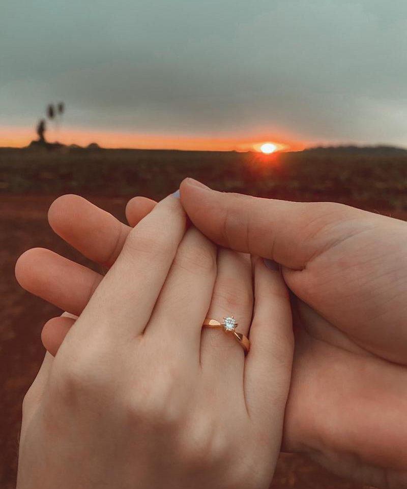 pedido de casamento com anel de noivado Oregon