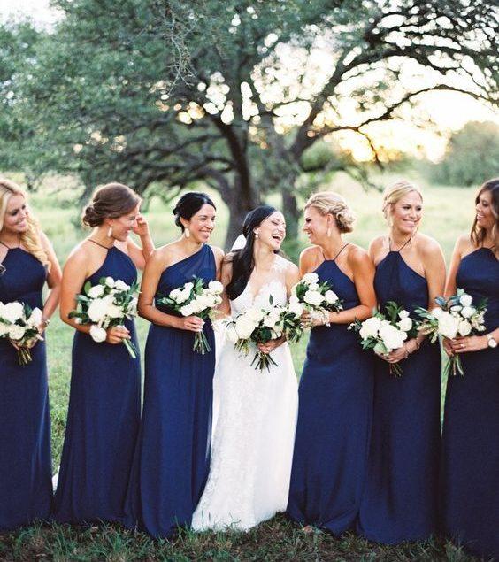 vestidos de madrinhas azul escuro