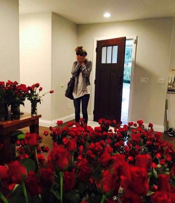 pedido com decoração romântica