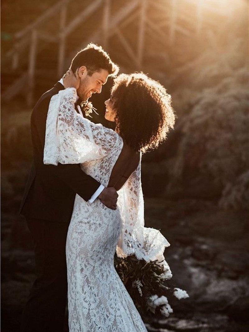 vestido noiva boho com renda