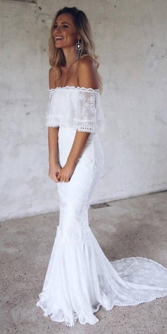 vestido de noiva boho delicado